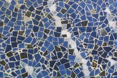 """Gulvudsmykning i mosaik, udført af Marie Elisabeth A. Franck Mortensen, """"De Kreative Mellemrum"""""""