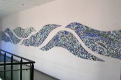 """Vægudsmykning i mosaik, projekt af Marie Elisabeth A. Franck Mortensen, """"De Kreative Mellemrum"""""""